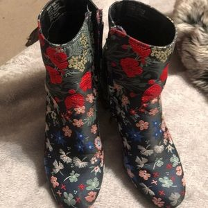 Embroidered Floral Ankle Boot by Zigi Soho
